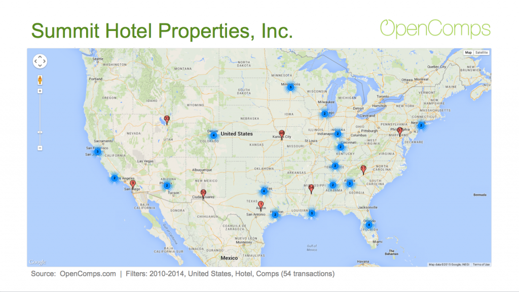 2010-2014 Summit Hotel Properties