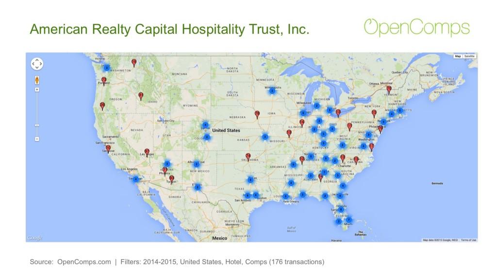ARC Hospitality 2014-2015 Map